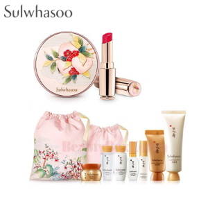 SULWHASOO Perfecting Cushion & Essential Lip Serum Stick Set [Peach Blossom Spring Utopia Limited Edition]
